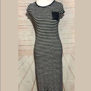 Monteau Striped Maxi Dress | Small